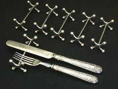 クロスのナイフ&フォークレスト6個セット