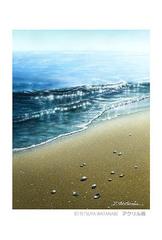 <アクリル画>「潮騒」 ポストカード