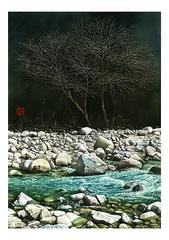 <水彩画>「せせらぎ」 A4アートポスター