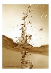 <素彩画>ウイスキー絵の具で描く「躍動」 A4アートポスター