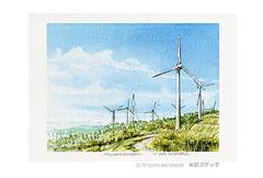 <水彩画>「風の通り道」 ポストカード