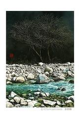 <水彩画>「せせらぎ」 ポストカード
