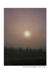 <アクリル画>「立冬の朝」 ポストカード