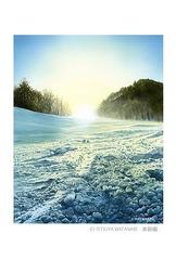 <水彩画>「雪景色」 ポストカード