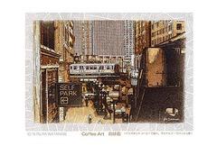 <コーヒー画>インスタントコーヒーで描く「シカゴの街」 ポストカード