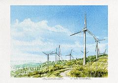 <水彩画>「風の通り道」 A4・A3アートポスター