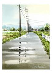 <水彩画>「雨上がり」 A4アートポスター