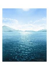 <水彩画>「ふるさと」 A4アートポスター