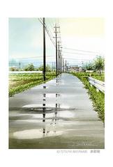 <水彩画>「雨上がり」 ポストカード