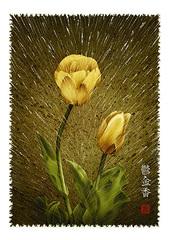 <素彩画>チューリップ絵の具で描く「チューリップ」 A4アートポスター
