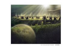 <水彩画>「立冬の朝2017」 ポストカード