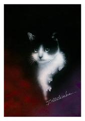 <水彩画>「まなざし」 A4アートポスター
