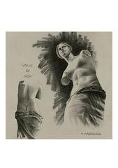 <ペンシルドローイング>「ミロのヴィーナス」 A4アートポスター
