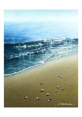 <アクリル画>「潮騒」 A4アートポスター