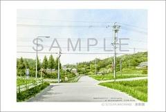 <水彩画>「散歩道」 ポストカード
