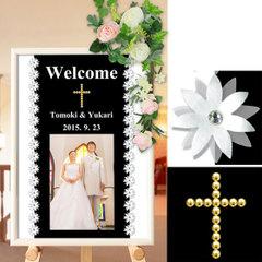 結婚式ウエルカムボード ウェディングボード 写真入り A3「Promise」