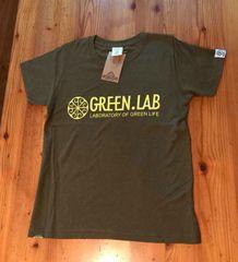 GREEN.LAB横ロゴキッズTシャツ/SATORIボディ