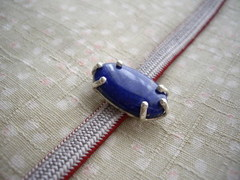 ラピスラズリ 6本爪の帯留
