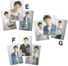 萬雅之 生写真セット E〜G