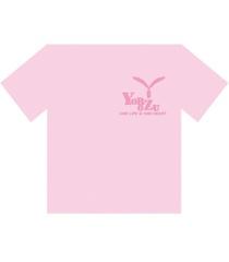 萬デザインロゴTシャツ_ピンク