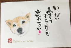 手描きポストカード(薫子)