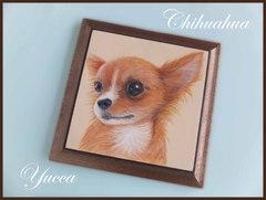 犬のプレート(チワワ)送料140円 トールペイント