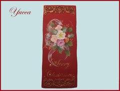 送料164円 クリスマスローズの壁掛け 長方形(アラベスク)