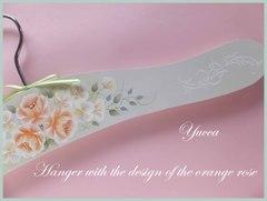 母の日:春の薔薇ハンガー トールペイント