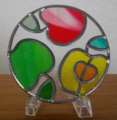 ガラスのコースター・・・りんご