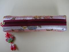 韓国伝統工芸「刺繡の筆入れ・ピンク色」