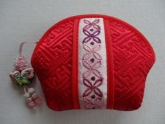 韓国伝統工芸「ミニポーチ・赤色」