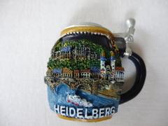 石盤マグネット(ビールジョッキの形にドイツ・ハイデルベルク観光地)