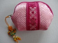 韓国伝統工芸「ミニポーチ・ピンク色」