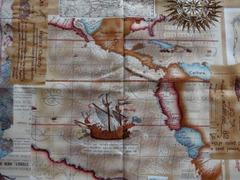 オックス生地(アンティーク地図柄)