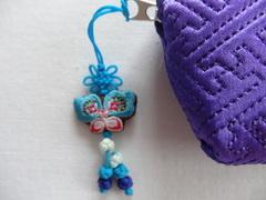 韓国伝統工芸「ミニポーチ・紫色」