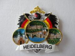 石盤マグネット(ドイツ国旗とハイデルベルク観光地)