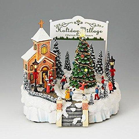 LED付オルゴール クリスマスタウン
