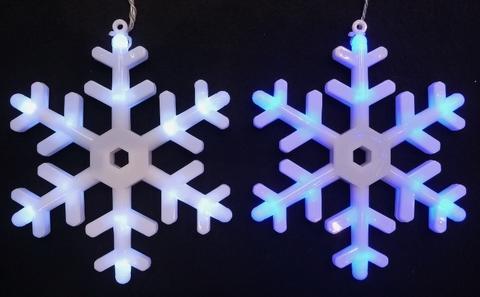 LEDハンギングライト スノーフレイク6P ホワイト/ブルー球