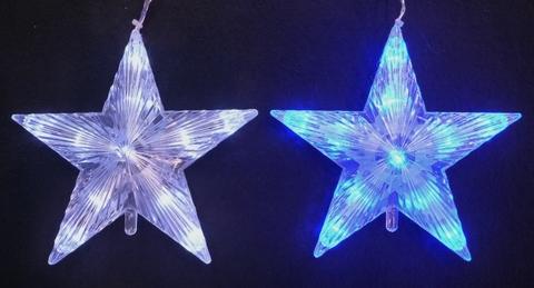 LEDハンギングライト スター6P ホワイト/ブルー球