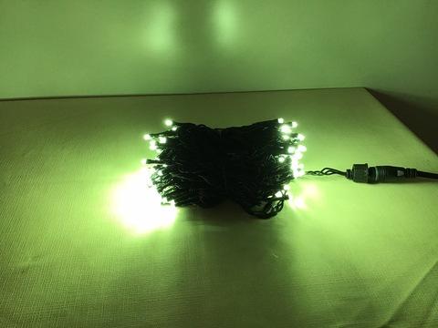 【代引手数料無料】LED100球 10M アップルグリーン球 ブラックコード コントローラ付