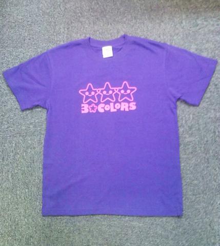 3☆COLORS Tシャツ(パープル/L)