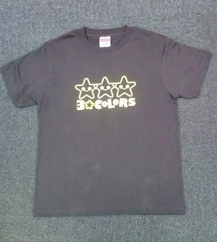 3☆COLORS Tシャツ(チャコール/M)