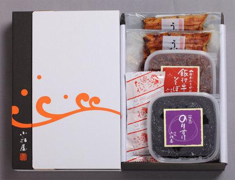うなぎ蒲焼 のりすけ 飯村牛そぼろ詰合(鰻(上)2、のり1、牛1)