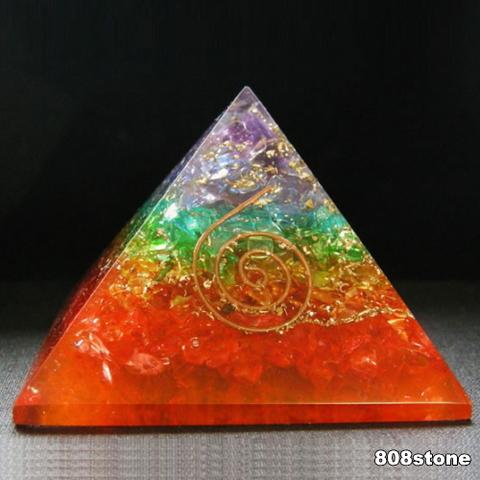 チャクラ パワ-スト-ン オルゴナイトピラミッド