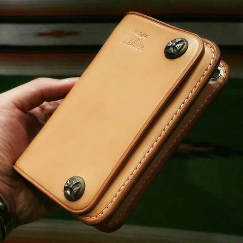 Boots Leather Middle Wallet