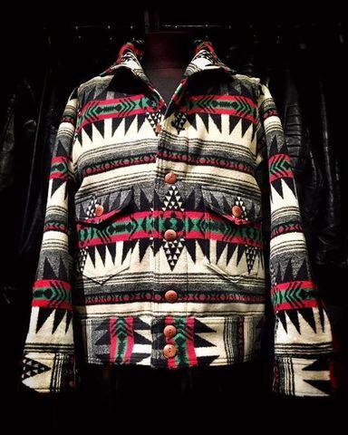 "Dapper's ""Native Pattern Blanket A-1 Style Jacket"""