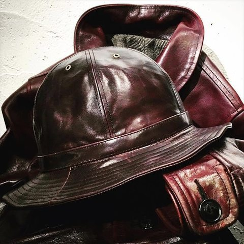 "Speier's ""Horse Leather Army Hat"""