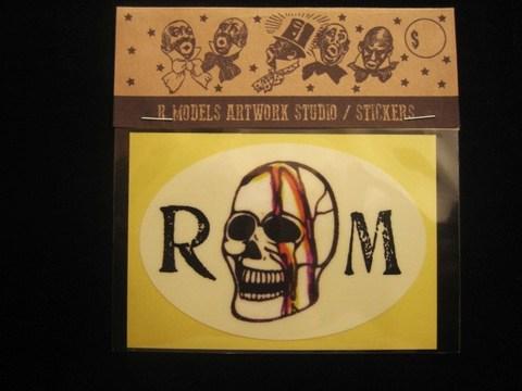 "RUSSET & MIND STICKER ""RM SKULL"""