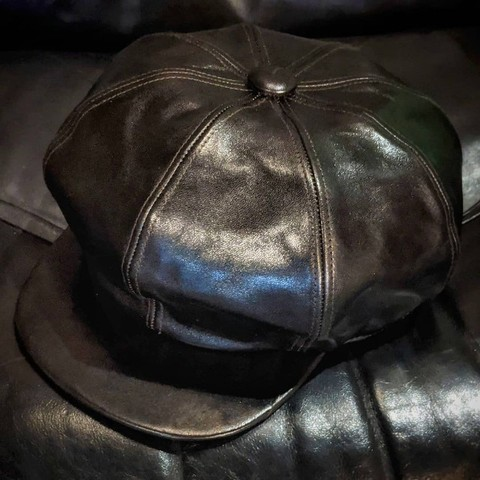 "Dapper's ""40's Style Horse Leather Casquette LOT1436"""