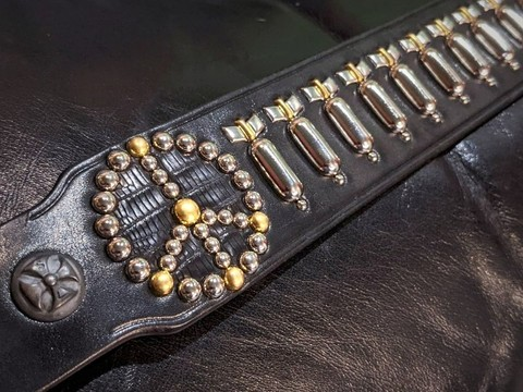 "Boots Leather ""J.P. BOMB"" Studs Belt"